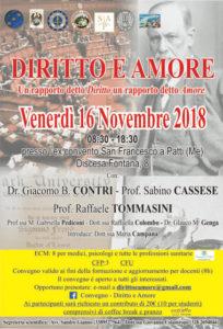 Convegno a Patti - Diritto e Amore @ Ex-convento San Francesco | Patti | Sicilia | Italia